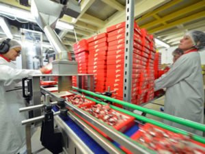 Работа для фасовщика-упаковщика на кондитерскую фабрику