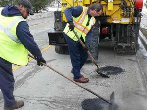 Работа по бслуживанию и косметического ремонта дорог