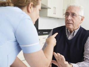 Робота для доглядальниці по догляду за хворим дідусем