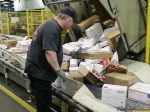 Работа на сортировочном складе Poczta Polska в почтовом отделении