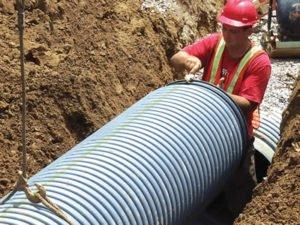 Робота по збірці і експлуатації земляних дренажних систем