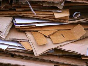 сортировка картона, бумаги