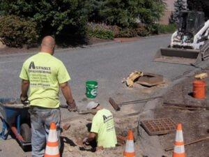 Работа на строительство и ремонт дорожного покрытия